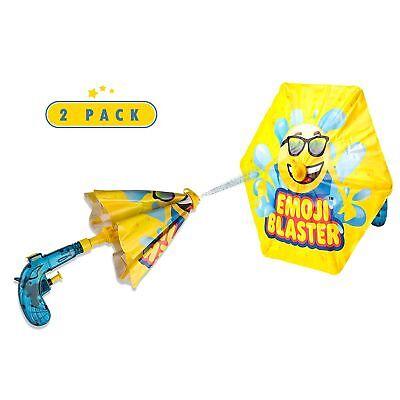 2 Pack Emoji Blaster Water Gun - Squirt Pistol With Umbrella Shield For Kids
