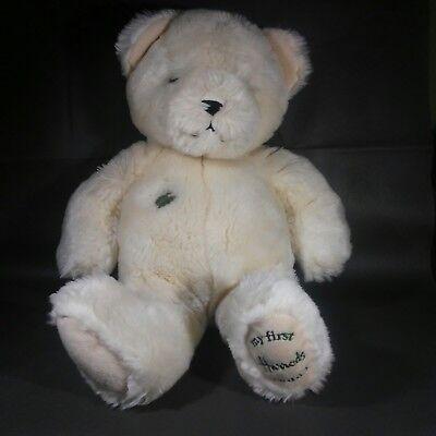 Harrods Knightsbridge, My First Harrods Teddy, Cream Color Soft and huggable