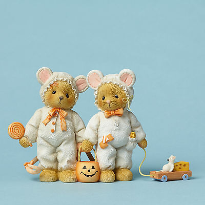 Cherished Teddies*BEARS DRESSED AS MICE*New*NIB*Fall*HALLOWEEN*4047368