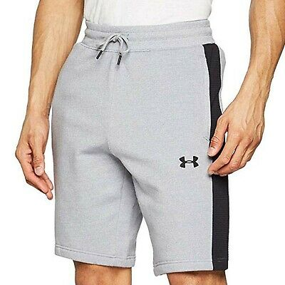 Under Armour UA Mens Microthread Fleece Joggers Bottoms Gym Pants Shorts - Grey