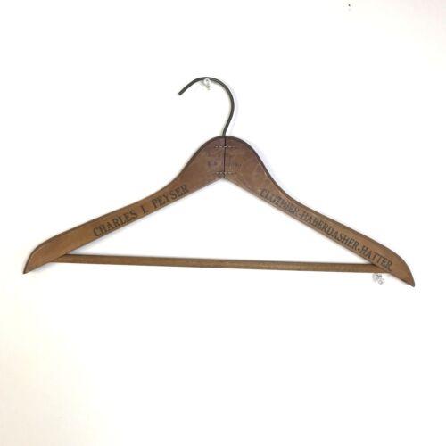 Vintage Wood Hanger,Charles L Peyser Clothier Haberdasher Hatter,Advertising