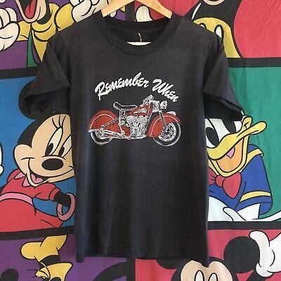 VTG 1983 Indian Motorcycle/Harley Davidson Promo T-shirt Medium