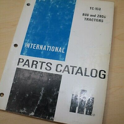 Ih International 806 2806 Tractor Parts Manual Book Spare Catalog Farm List 1971