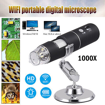 Digital Microscope Magnifier Wireless Wifi 1000x 2mp Usb For Ios Iphoneandroid