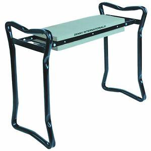 FOAM PADDED PORTABLE KNEE PAD SEAT FOLDING STOOL GARDEN KNEELER FOR GARDENING
