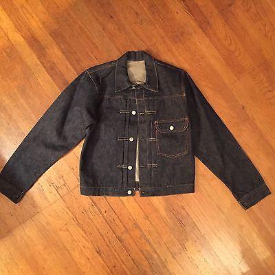 Vtg Deadstock Levi's Big E Buckle back  Denim 38 40 Type 1 Pocket jacket 506xx