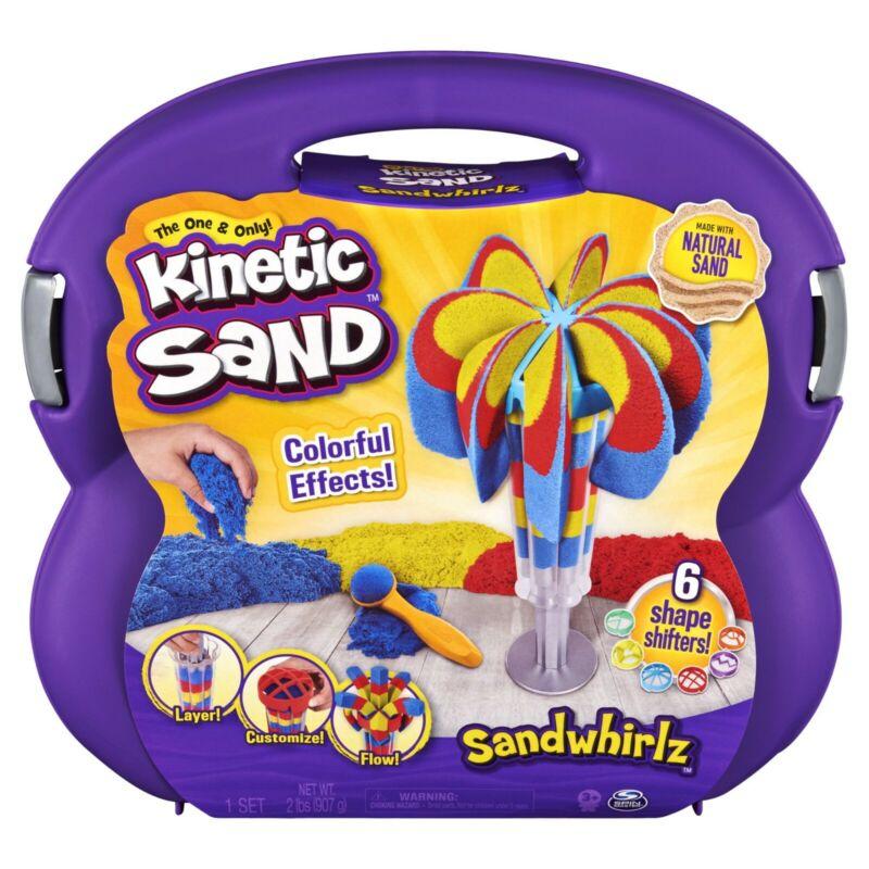Kinetic Sand, Sandwhirlz Playset with 3 Colors of Kinetic Sand (2lbs) and...