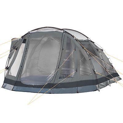 CAMPFEUER Tunnelzelt Campingzelt Familenzelt grau 5 Personen Camping 3000 mm WS