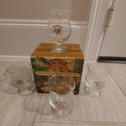 SET OF 4 BAILEYS IRISH CREAM ROCKS GLASSES