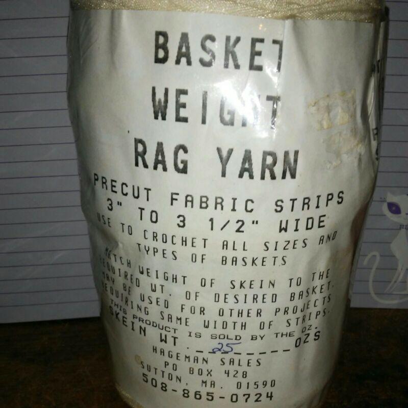 Rag Yarn Precut Fabric Strips Basket Weight Cream 25oz
