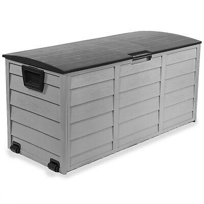 All Weather UV Pool Deck Box Storage Shed Bin Backyard Patio Outdoor w/ -