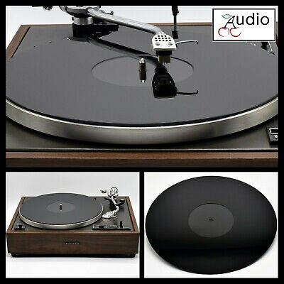 Gloss Black Acrylic Turntable Platter Mat. Fits PIONEER Record Players