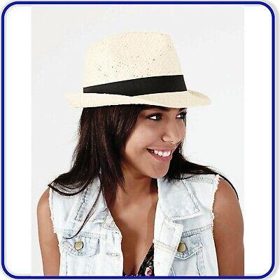 Festival Trilby Straw Hat Summer Holiday Hat Fashionable Ladies Mens Cowboy Hat Stylish Straw Cowboy Hat
