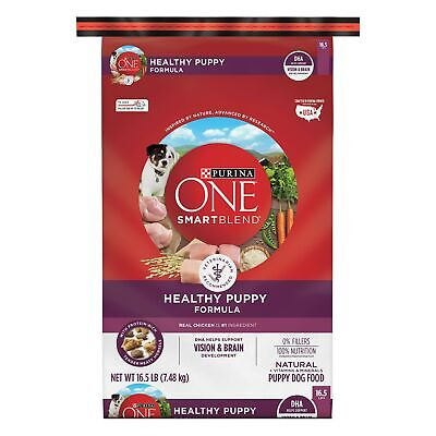 Purina ONE SmartBlend Natural Puppy Dog Food Dry Food Chicken 16.5 lb. Bag