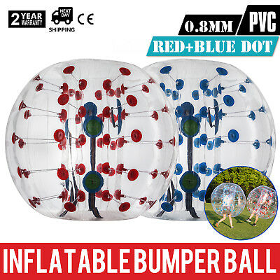 2Pcs 1 5M Inflatable Bumper Football Pvc Zorb Ball Family Fun Soccer Bubble