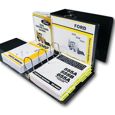 Ford 655a Tractor Loader Backhoe Service Parts Operators Manual Owners Shop Set