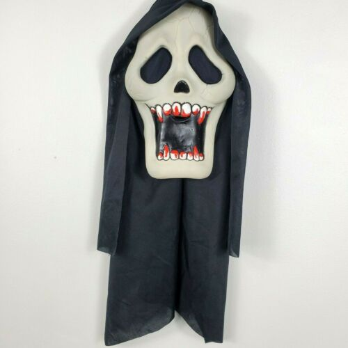 Easter Unlimited Fun World Vtg 90s Face Mask Halloween Glow Skull Scream 9205