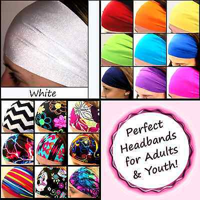 Adult Headbands ( Yoga Headbands Wide Sports Workouts Fashion Adults Youth Halo Color)