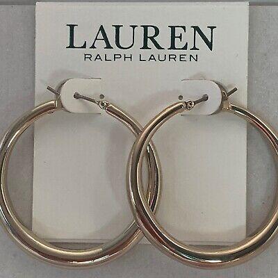 Ralph Lauren Women's Hoop Earrings Gold Tone New