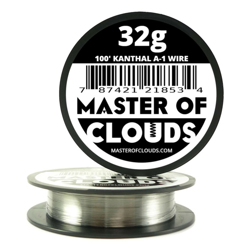 100 ft - 32 Gauge AWG A1 Kanthal Round Wire 0.20 mm Resistance A-1 32g GA 100