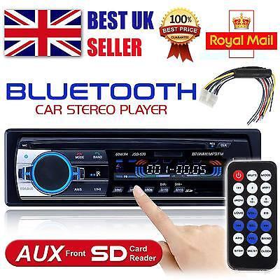 Bluetooth Car Head Unit Player Radio Stereo MP3/USB/SD/AUX-IN/FM In-dash IPod UK