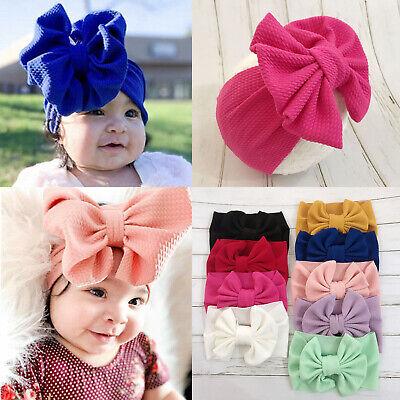 Toddler Girls Baby Big Bow Hairband Headband Stretch Turban Knot Head Wrap (Big Bow Headbands)