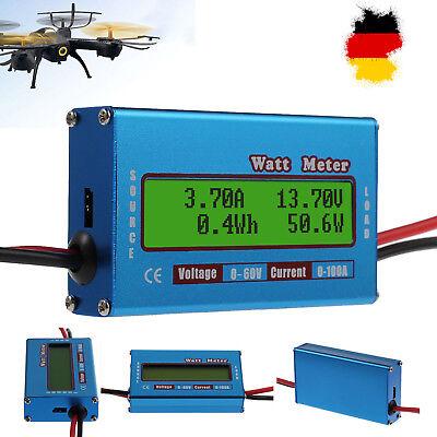 Digitale LCD Akku Balancen Power Analyzer Watt DC Meter 60V/100A Leistungsmesser