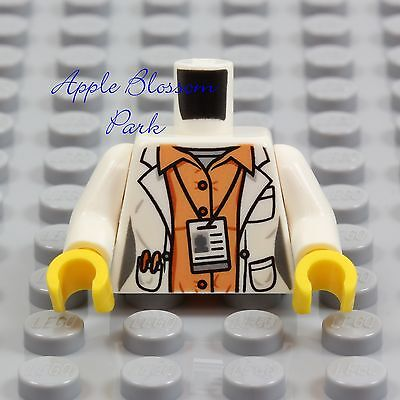 LEGO Female DOCTOR SCIENTIST MINIFIG TORSO - Hospital White Shirt Lab Coat Nurse for sale  Shipping to India