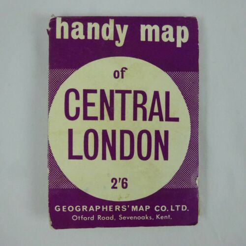 "Vintage Handy Map of Central London 23"" x 17"""