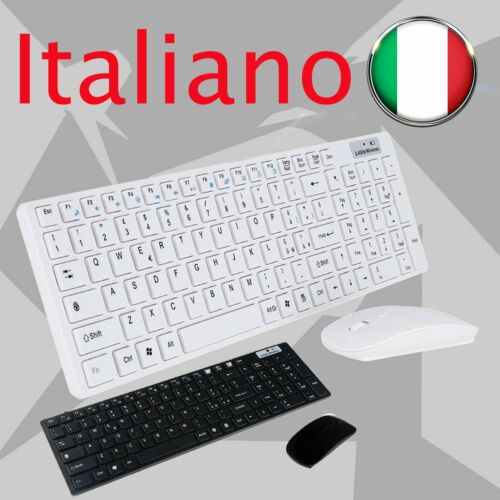 KIT TASTIERA E MOUSE MINI WIFI WIRELESS PER PC 2.4GHz KEYBOARD USB Mb