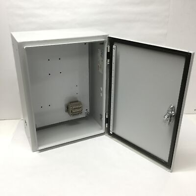 Hoffman Csd16126lg Electrical Enclosure Cabinet Box 16 X 12 X 6 W Holes