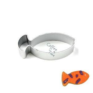 Fish shape cookie cutter biscuit fondant molds metal diy for Fish shaped cookie cutters