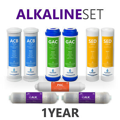 Express Water 1 Year Alkaline System Replacement Filter Set