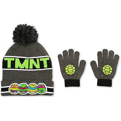 Teenage Mutant Ninja Turtles Nickelodeon Boys/Girls 2pc Pom Hat & Glove Set