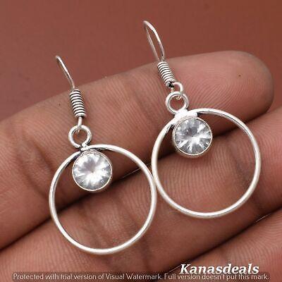 Thanksgiving Gift 3.5 Gm Zircon 925 Sterling Silver Plated Earring ER-28366