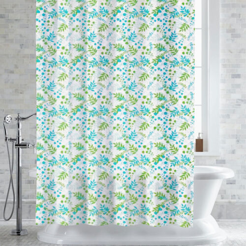 PEVA-EVA Shower Curtain/Liner Bruno Foliage Print 70″ x 72″ Bath