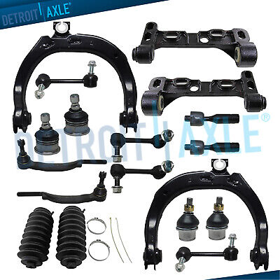 18pc Front Upper Control Arms ball Joint Tierod Sway link 04-07 Trailblazer ()