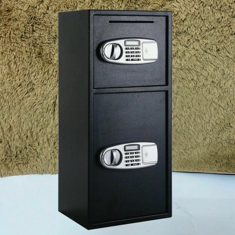 "30.5""Large Digital Electronic Safe Box Keypad Lock Security Cash Gun Home Office"