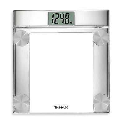 Conair Thinner Digital Precision Chrome and Glass Bathroom Scale - LCD - NEW