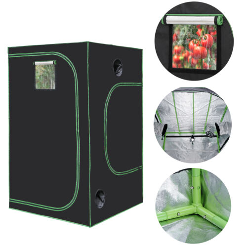 48x48x80 Inch  Hydroponic Grow Tent Box Seed Room with Window and Floor Tray Grow Tents, Dry Racks & Shelves