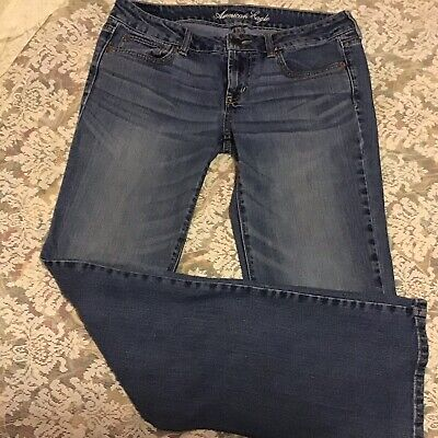 Women's American Eagle Jeans Size 10 Long Favorite Boyfriend ()