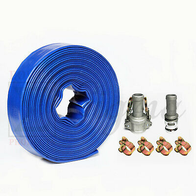 Sigma 1 In X 100 Feet Pvc Lay Flat Agricultural Pump Discharge Hose Camlock