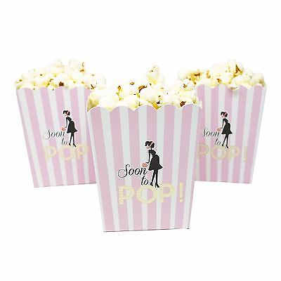 Set of 20 Pink Soon To Pop Popcorn Baby Shower Boxes Gender Reveal Party Favor](Gender Reveal Boxes)