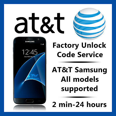 AT&T UNLOCK CODE SERVICE FOR SAMSUNG GALAXY S2,S3,S4,S5,S6,S7 NOTE 3,4,5 ACTIVE for sale  Shipping to Canada
