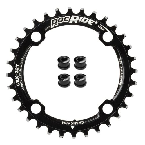 RocRide Narrow Wide Chainring 104 BCD for 9/10/11 Speed with 4 Bolts 32T 30T