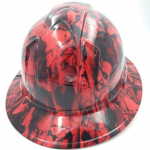 FULL BRIM Hard Hat custom hydro dipped , NEW RED SINISTER JOKER WICKED HOT NEW 3