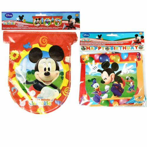 Mickey+Mouse+Party+Banner+Pack+-+Flag+Banner+and+Happy+Birthday+Banner