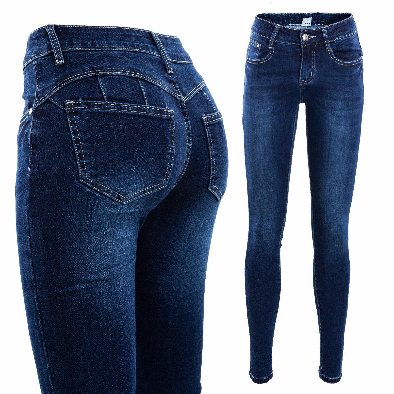Vaqueros Mujer Push Up Afelpado Pantalones Sudor Caldi Invierno Slim Toocool Ebay