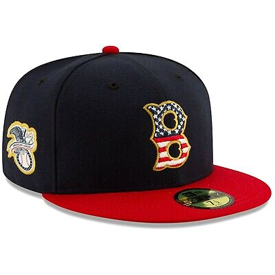 Boston Red Sox New Era 2019 Stars & Stripes 4th of July 59FIFTY Fitted Hat - Fourth Of July Hat