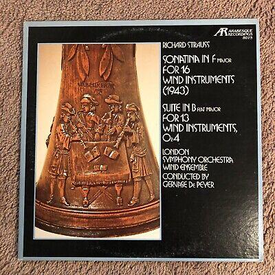 R. STRAUSS: Sonatina Wind Instruments/Suite Wind Instruments-M1971LP De PEYER